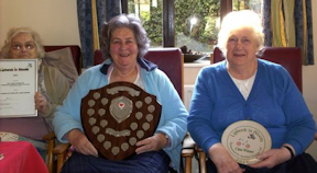 Elderly residents at the day centre in Liphook